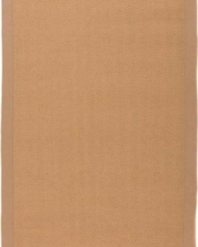 Hnědý jutový koberec Flair Rugs Herringbone, 160 x 230 cm