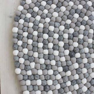 Světle šedý kuličkový vlněný koberec Wooldot Ball Rugs, ⌀ 120 cm