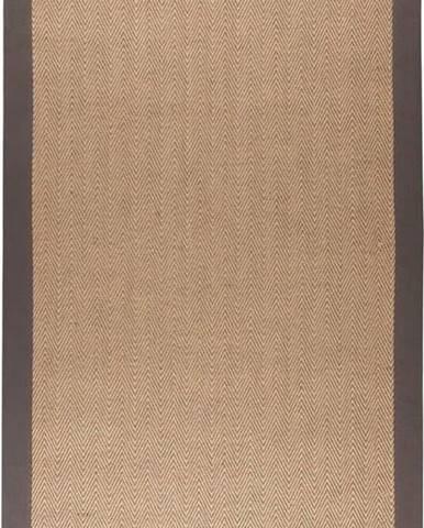 Hnědo-šedý jutový koberec Flair Rugs Herringbone, 200 x 290 cm