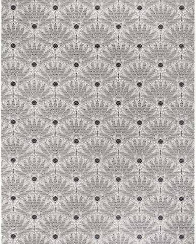 Černo-šedý venkovní koberec Ragami Amsterdam, 120 x 170 cm