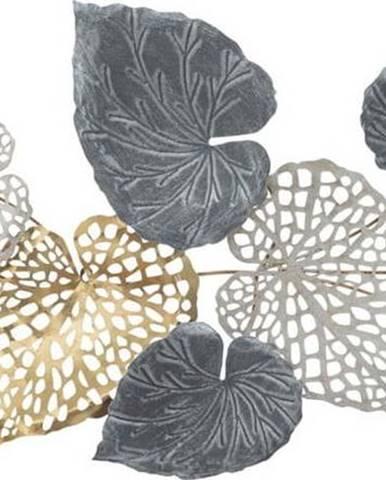 Kovová závěsná dekorace se vzorem listů MauroFerretti Ory-A-, 31x90cm