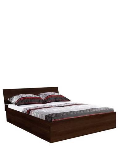 postel s úložným prostorem PAULA 9, kaštan wenge