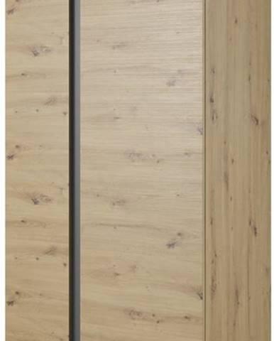 Šatní skříň ARDEN, dub artisan/grafit