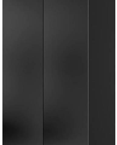 Šatní skříň Corinto, černá/černý lesk