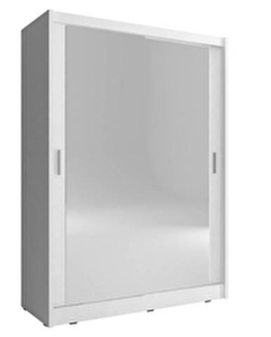 skříň MARY 130 2 zrcadlá, bílá
