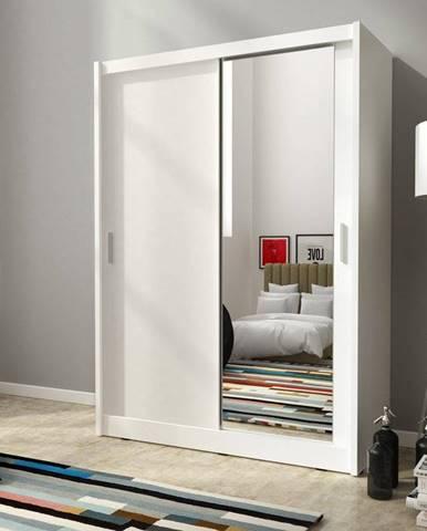 skříň MARY 130 zrcadlo, bílá
