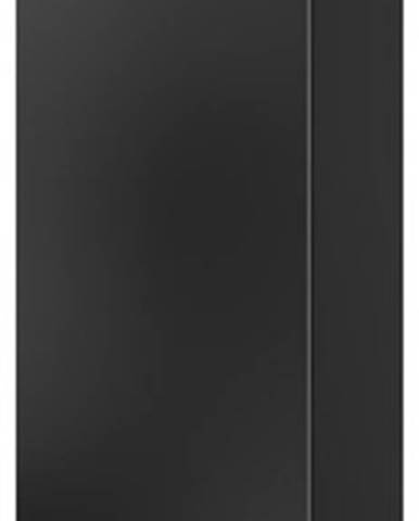 Závěsná skříňka Corinto 2, černá/černý lesk