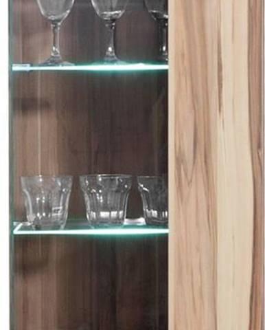 závěsná vitrína MYLO 11, černá/ořech baltimore