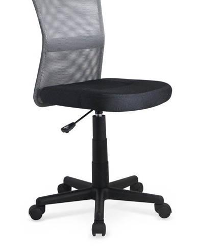Halmar Dětská síťovaná židle Dingo, šedá/černá
