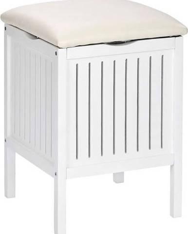 Bílá dřevěná stolička súložným prostorem Wenko Oslo