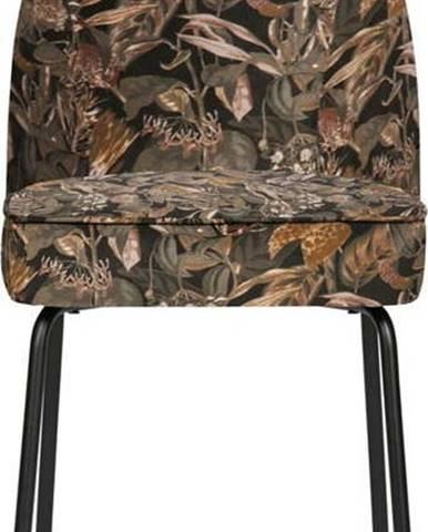 Černá jídelní židle BePureHome Vogue Bouquet