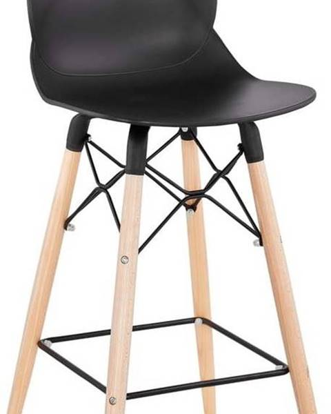 Kokoon Černá barová židle Kokoon Marcel Mini, výškasedu68cm