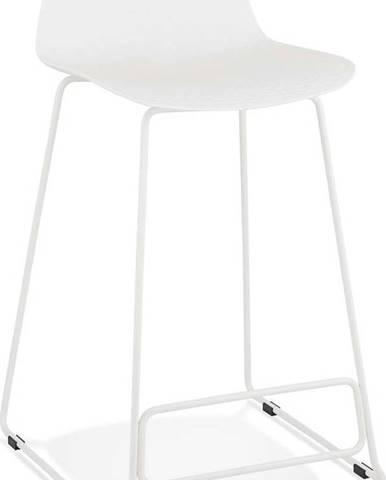Bílá barová židle Kokoon Slade Mini, výškasedu66cm