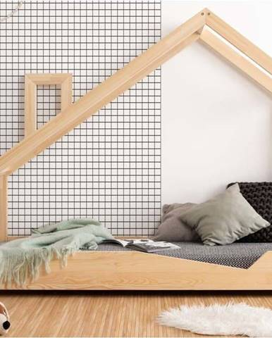 Domečková postel z borovicového dřeva Adeko Luna Adra,80x200cm