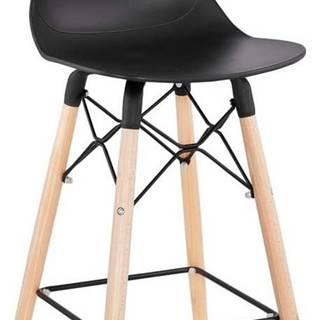 Černá barová židle Kokoon Marcel Mini, výškasedu68cm