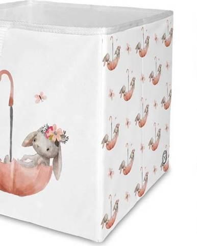 Dětský úložný box Mr. Little Fox Bunnies In The Rain