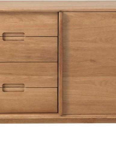 Komoda v dubovém dekoru Unique Furniture Rho