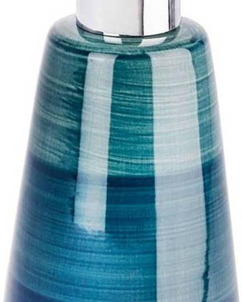 WENKO Petrolejově modrý dávkovač na mýdlo Wenko Pottery