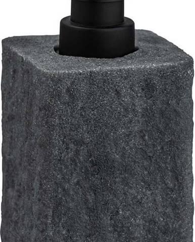 Tmavě šedý dávkovač na mýdlo Wenko Villata, 300ml