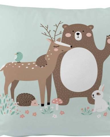 Povlak na polštář z bavlněného saténu Mr. Little Fox Fox Dear Friends, 50x50cm