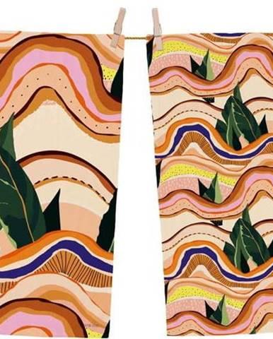 Sada 2 bavlněných kuchyňských utěrek Butter Kings Abstract Landscape, 70 x 50 cm