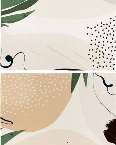 Sada 2 ks bavlněného prostírání Butter Kings Abstract Art