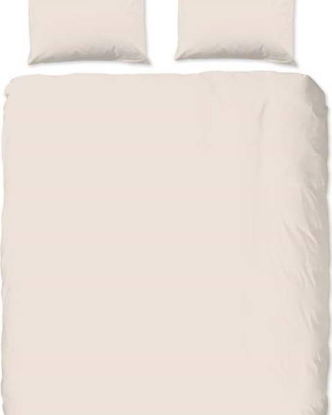 GOOD MORNING Béžové bavlněné povlečení na dvoulůžko Good Morning, 220 x 240 cm