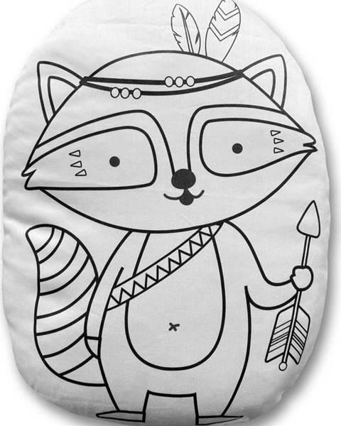 Mr. Little Fox Povlak na polštář z bavlněného saténu Mr. Little Fox Fox Indian Racoon