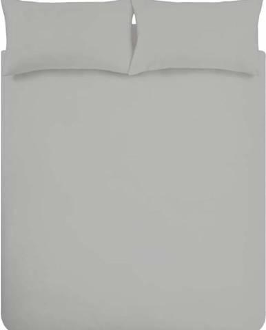 Šedé povlečení z egyptské bavlny Bianca Silver, 135 x 200 cm