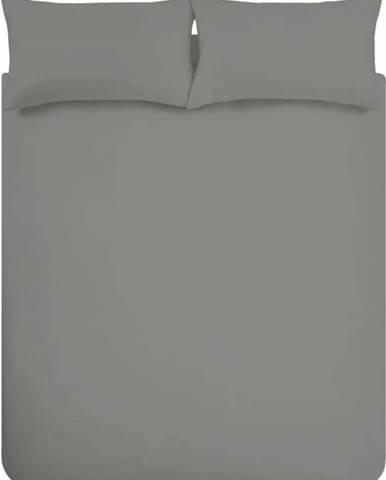 Tmavě šedé povlečení z egyptské bavlny Bianca Charcoal, 135 x 200 cm