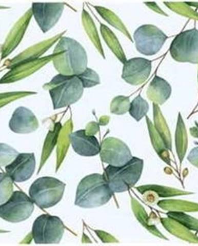 Zelený bavlněný běhoun na stůl Butter Kings Floating Eucalyptus,40x140 cm