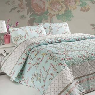 Sada prošívaného přehozu přes postel a polštáře Single 156, 160x220 cm