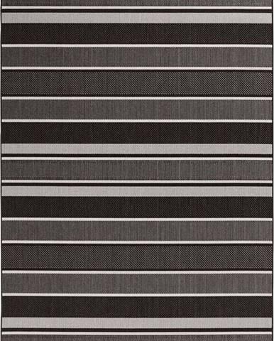 Černý venkovní koberec Bougari Strap, 200x290cm