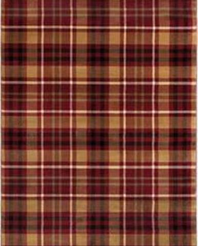Červený běhoun Flair Rugs Highland, 60 x 230 cm