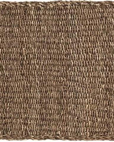 Hnědý koberec z mořských řas Geese Rustico Natura, 60 x 120 cm