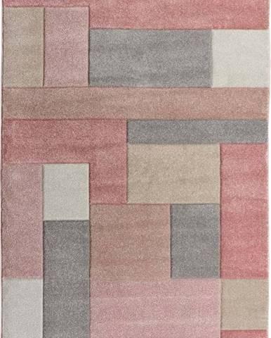 Růžovo-šedý koberec Flair Rugs Cosmos, 80 x 150 cm
