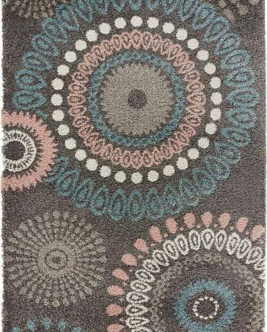 Šedý koberec Mint Rugs Globe, 80x150cm