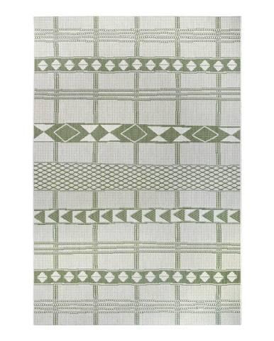 Zeleno-béžový venkovní koberec Ragami Madrid, 200 x 290 cm