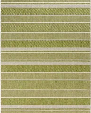 Zelený venkovní koberec Bougari Strap, 80x150cm