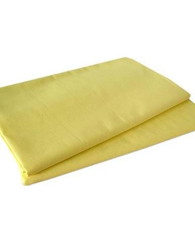 Prostěradlo bavlna 140x230 žlutá