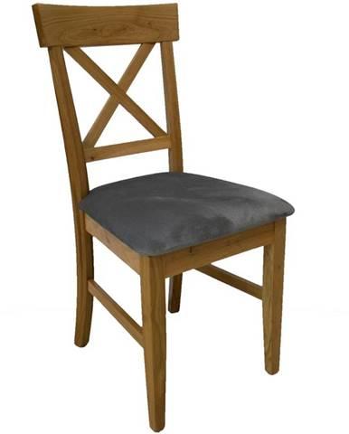 Židle Dub Sek. Tk. Šedy
