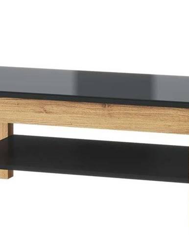 Konferenční Stolek Kama 110 cm 41 Dub Camargue/Černý Mat
