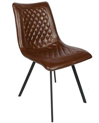 Židle Dublin 2 Ekokůže Hnědá