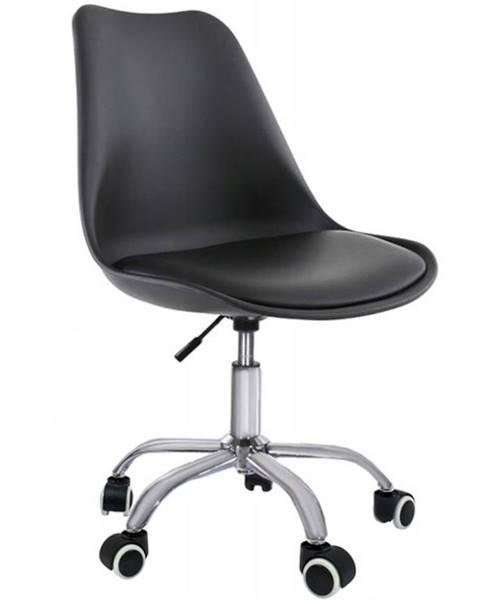 BAUMAX Otáčecí Židle Milano Černý