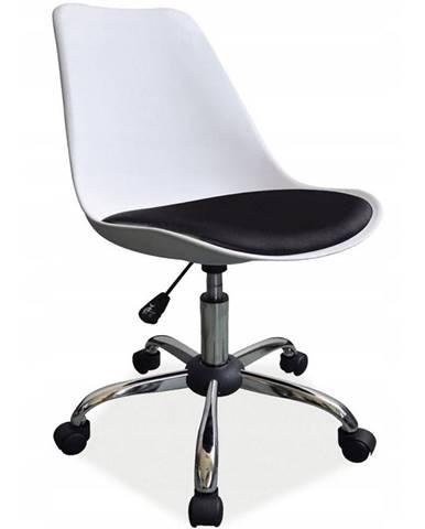Otáčecí Židle Milano Bílý-Černý
