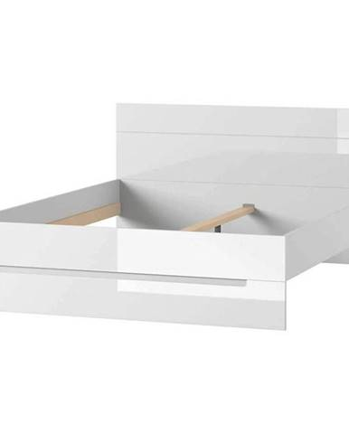 Postel Selene 160 cm Bílá Mat/Bílá Lesk