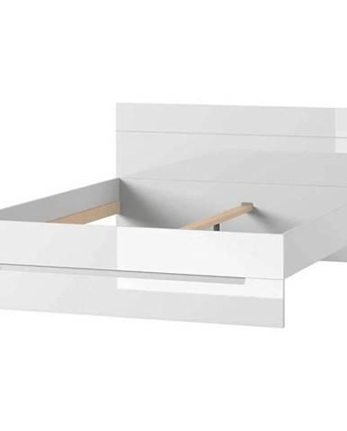 Postel Selene 180 cm Bílá Mat/Bílá Lesk