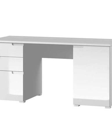 Psací Stůl Selene 158 cm Bílá Mat/Bílá Lesk