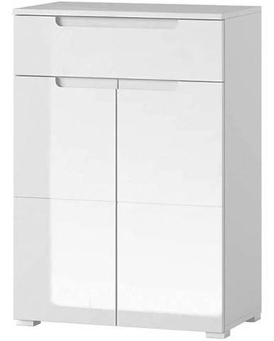 Skříň Selene 70 cm, bílá mat / bílá lesk