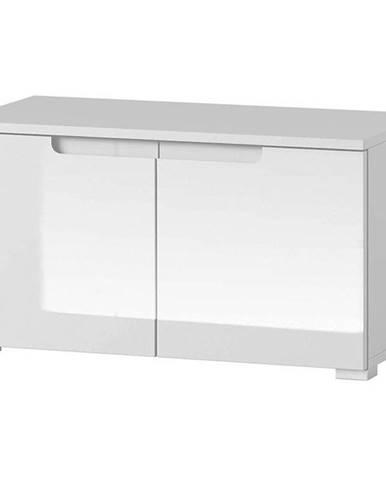 Skříň Selene 79 cm bílá mat / bílá lesk